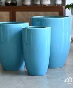 طقم احواض سيراميك زرقاء